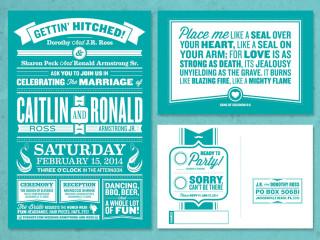 Armstrong Wedding Invitation